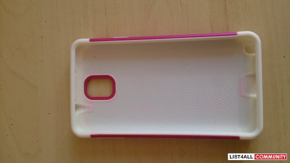 Samsung Galaxy III 3 Note White/Magenta studded 2-piece case