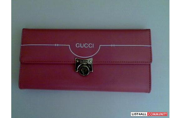 *Pink Gucci wallet!