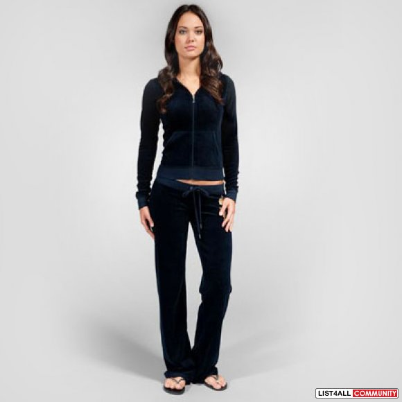 52453042a64f NAVY VELOUR JUICY COUTURE TRACKSUIT HOODIE+PANTS - BOTH FOR  200 ...