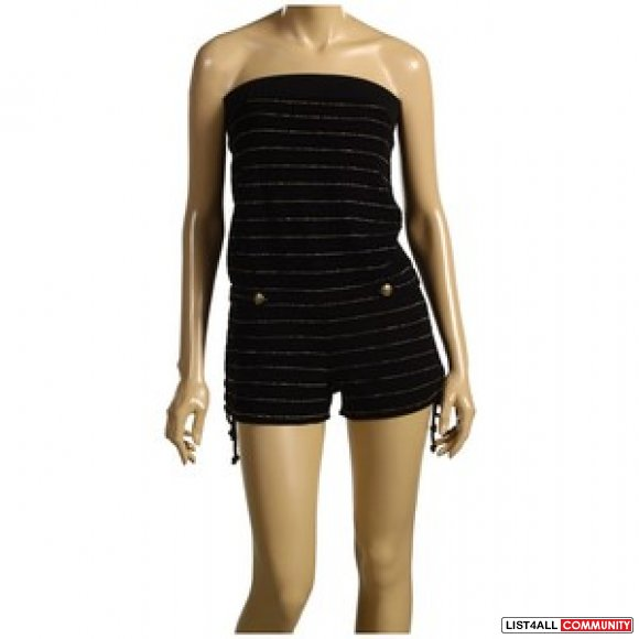 BNWT JUICY COUTURE Strapless Striped Terry Jumpsuit