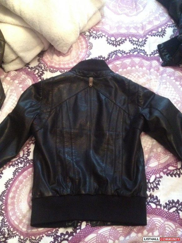 Authentic Mackage Catalina black leather jacket xs