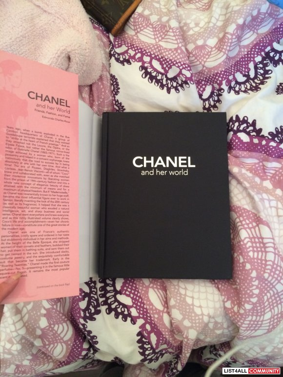 Pink and black CHANEL hardcover book