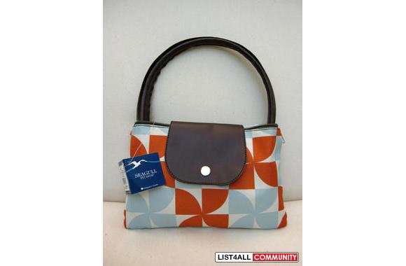 Orange and Blue Foldable Shopping Bag/Tote