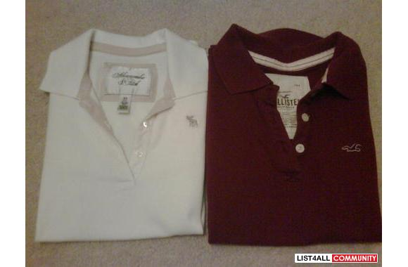 NEW Abercrombie and Fitch and Hollister Polo