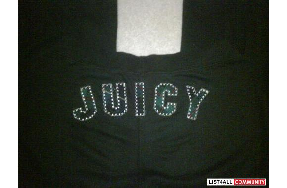 Brand new Juicy Couture sweatpants with plaid letters