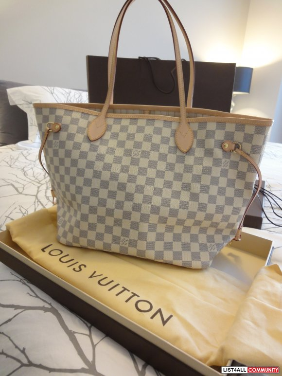 Authentic MM Damier Azur Neverfull - $850 (Lougheed Mall/Metrotown)