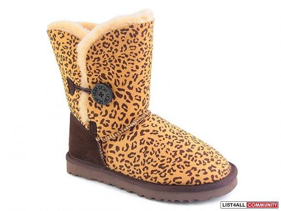 Leopard UGG Bailey Button Boots    NEW  STYLE   CHEAPEST