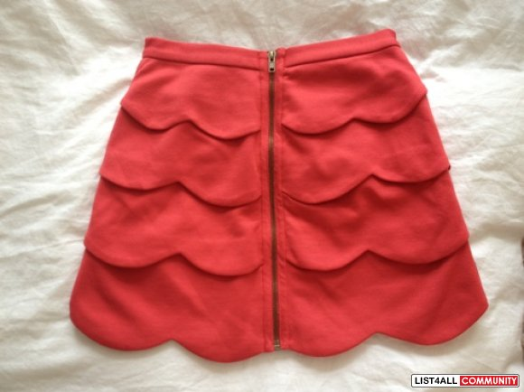 BB Dakota Red Liz Skirt - XS (WORN ONCE)
