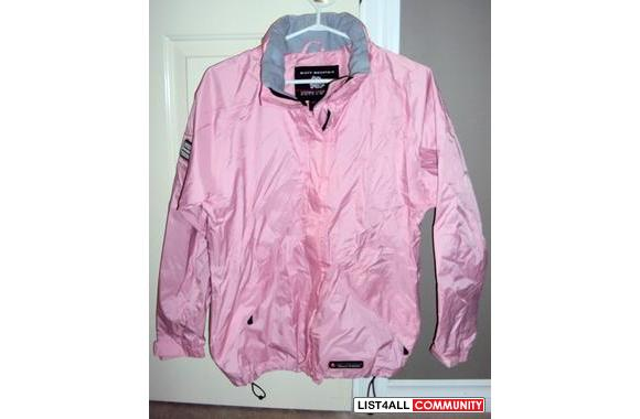 WOMEN'S Pink Golf Rain Jacket