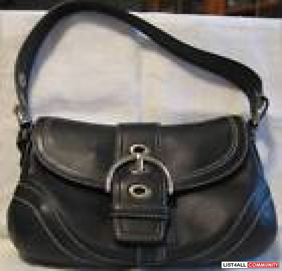 Leather Coach Purse- Authentic