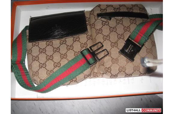 Gucci murseone is brown with green and red strip perfect condition ask