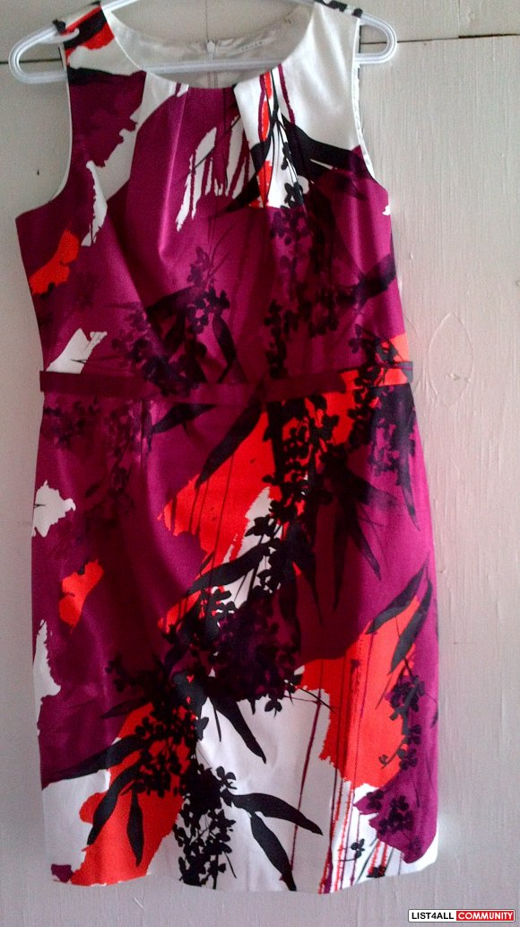 Tahari multiprint dress