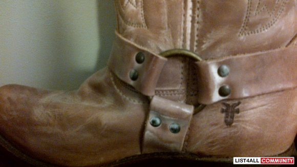 FRYE cowboy boots leather