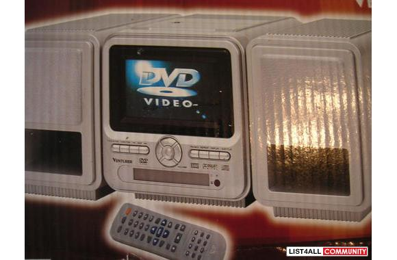 DVD Micro System-Plug in anywhere DVD/CD/AM/FM radio with a 4