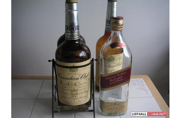 Texas Micky`s-3 Canadian Club and 1 Johnny Walkers Red