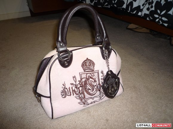 Pink/brown Juicy purse. super cute!
