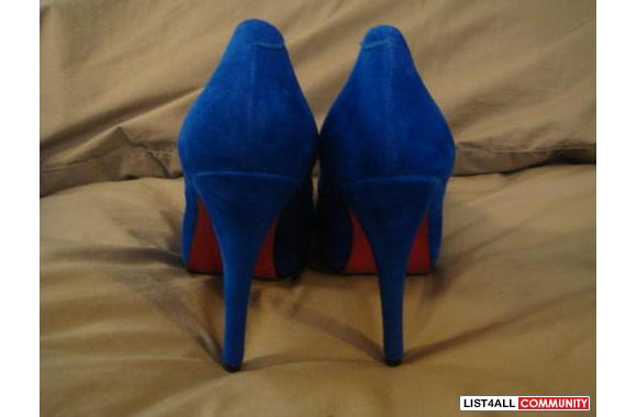 Christian Louboutin Blue Suede High Heel Pumps Size 6 36