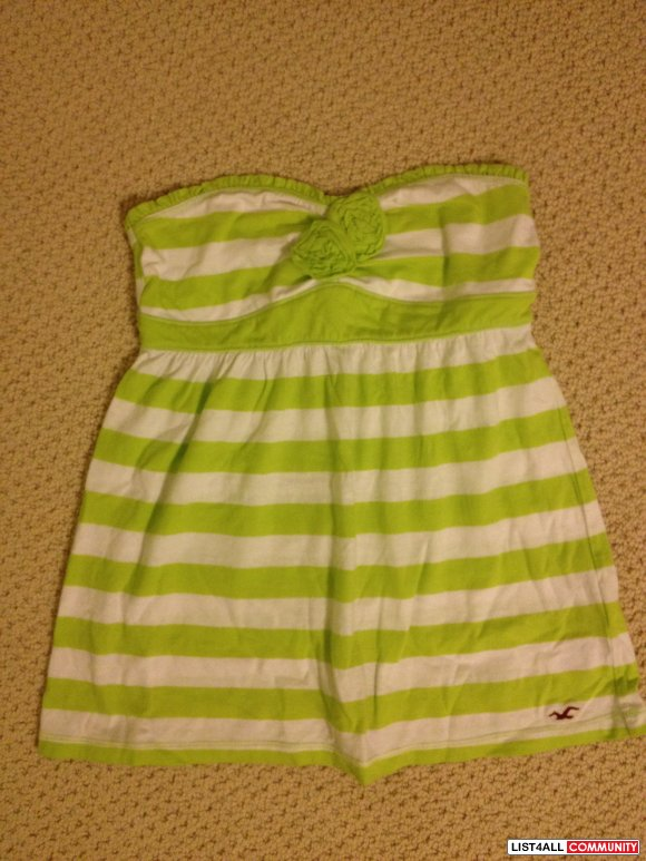 Hollister striped tube top size S