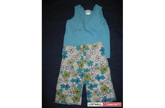 Basic tank top and capris, 6M, adorable on baby!