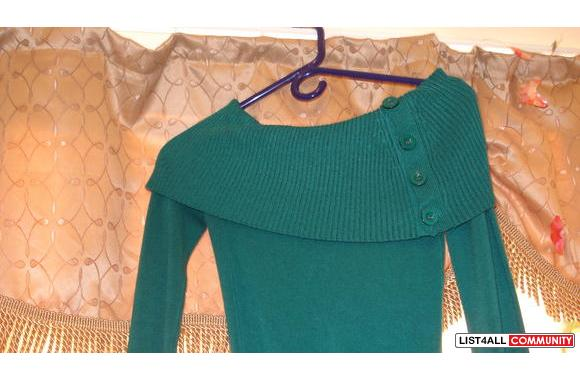 Green Costa Blanca off-sholder Sweater