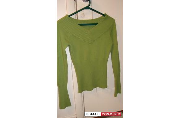 Green Sweater; (V-neck style) Only $2
