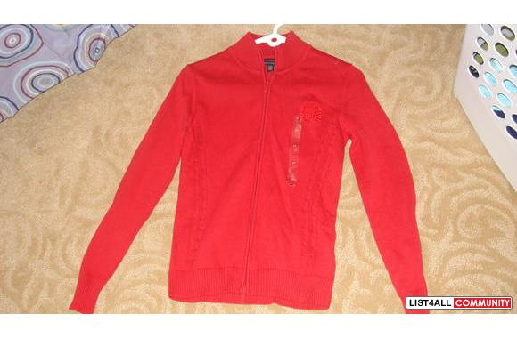 Brand New Ladies Tommy Hilfiger Zip-up Sweater/Cardigan