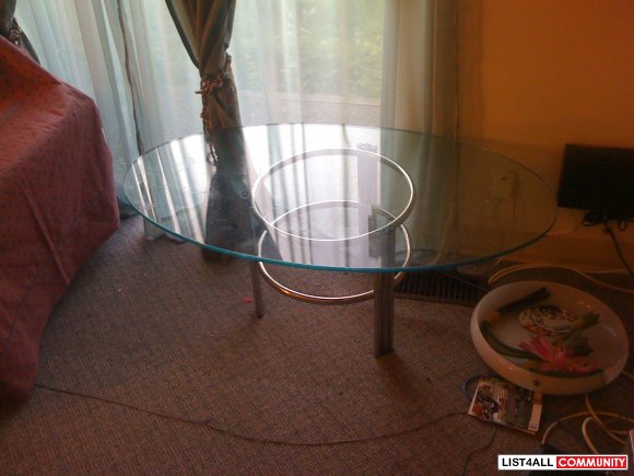 Thick Tempered Glass Coffee Table