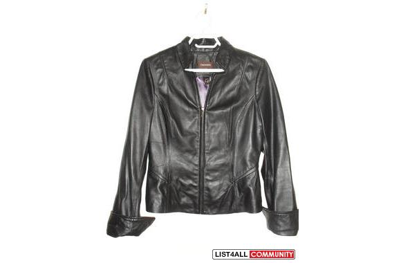 authentic black leather jacket from danier