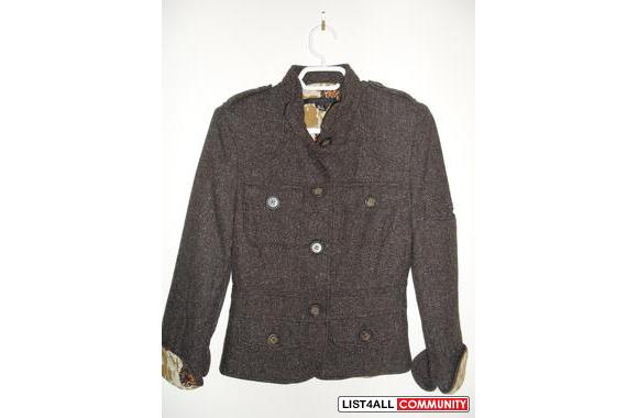 Zara brown tweed jacket