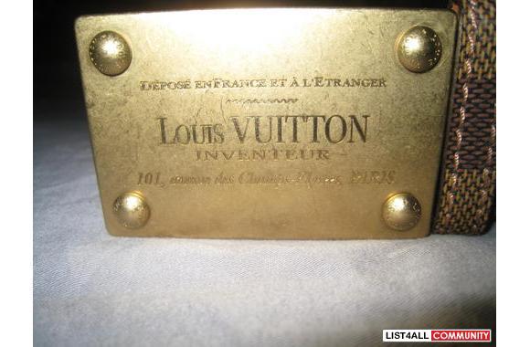 Authentic Louis Vuitton Inventeur Damier Belt - 580 x 380  32kb  jpg