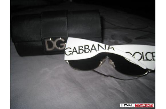 Dolce Amp Gabbana Dg2005 White Aviator Sunglasses