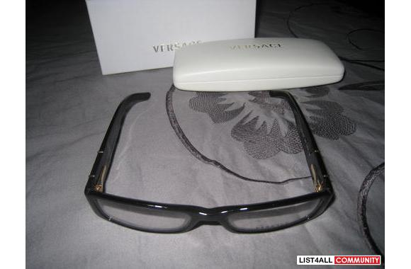 VERSACE Gold and black reading frames
