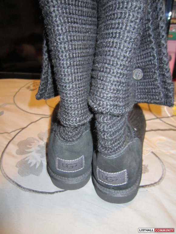 Black knitted UGG's Size 10