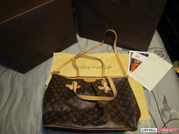 LOUIS VUITTON Pallermo GM bag AUTHENTIC (org.$1600)
