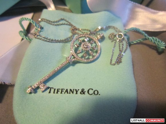 Tiffany & Co. Diamond and Platinum Kaleidoscope Key pendant