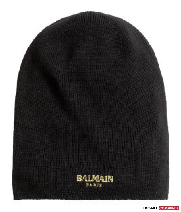 Balmain H&M Ribbed Wool Hat