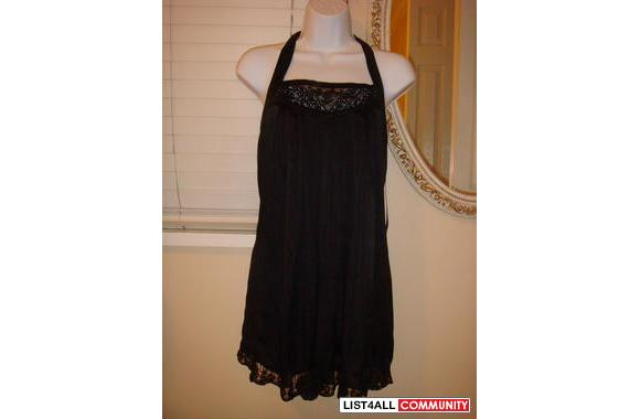Small, black halter/baby doll dress from Bebe @ metro