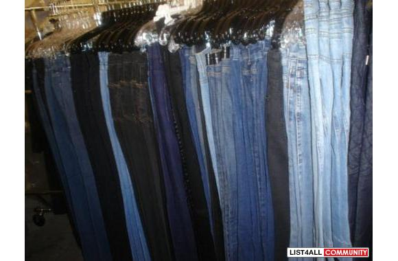 Available Bulk Sales of Authentic Designer Jeans