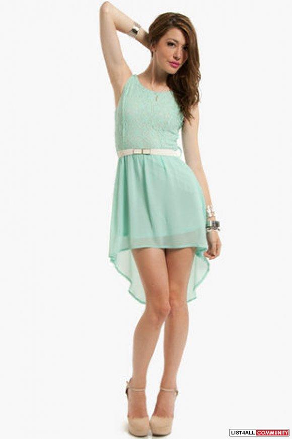 Pastel green dress pastel mint green lace