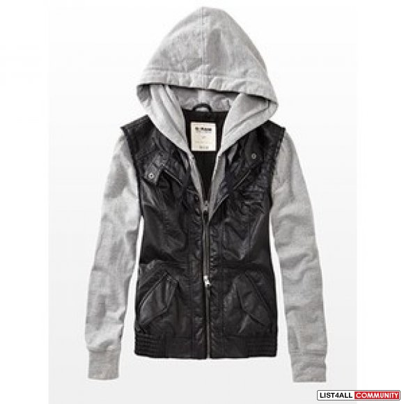 Faux leather and Fleece Jacket (XS-S)