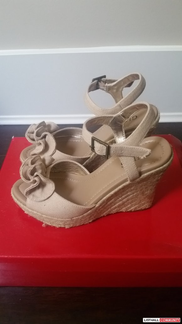 Size 5.5 GUESS Wedge Heels