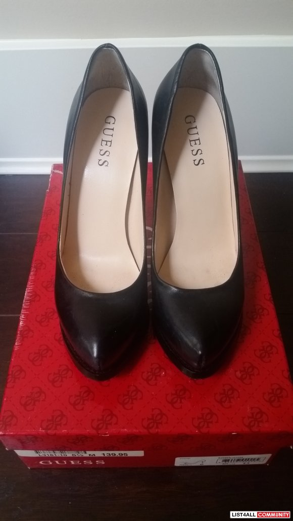 Size 5.5 Black GUESS Heels