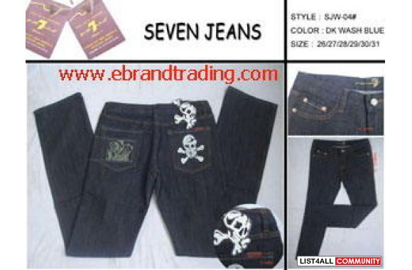We are able to offer you high quality name brand jeans(such as evisu,r