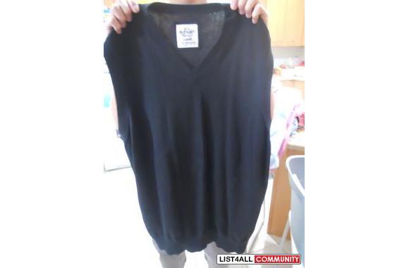 Old Navy BlackWool Vest> Size Large> IN EXCELLENT