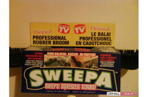 Brand New Sweepa Professional Rubber Broom Envious19