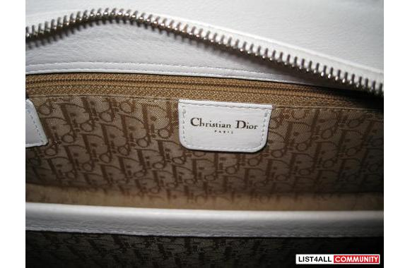 ***Authentic Christian Dior White Leather Handbag***Almost 80% OFF!!