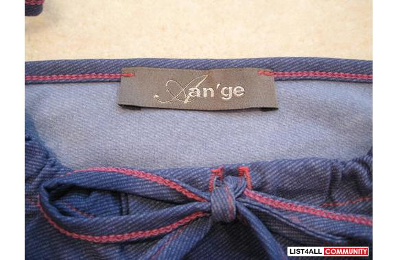 ***An'ge Blue Jean-like Tank Top, Sz: T2***