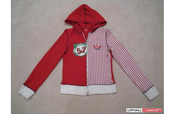 ***Phard Red/White Sporty Hoodie, Sz: S***