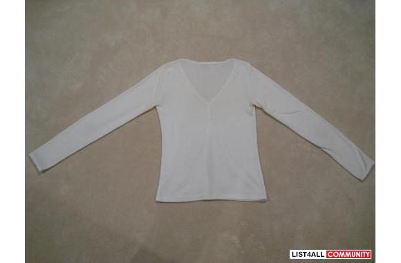 ***White Cotton Cardigan, Sz: M***
