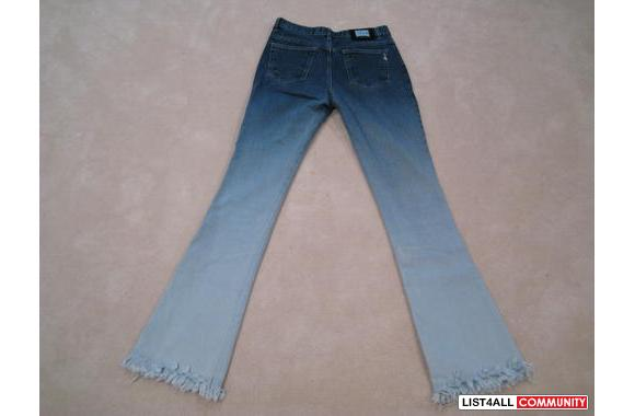 ***New Zerg Flared Jeans Blue Gradient Tint, Sz: 28***
